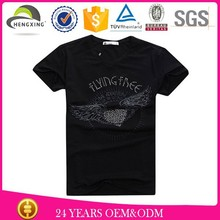 custom promotional cotton fabric t-shirt and wholesale t-shirts with beads