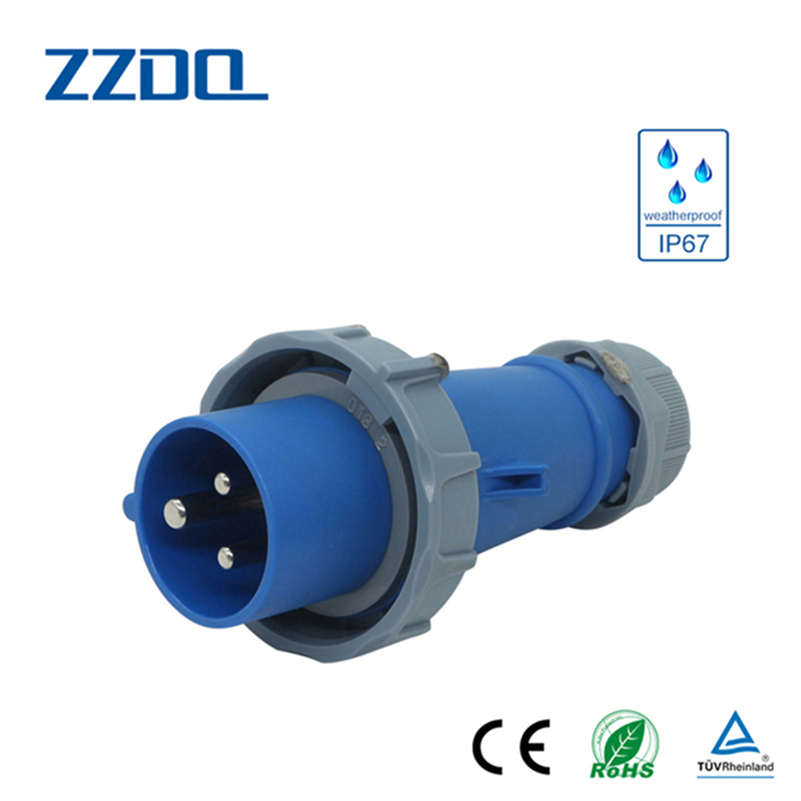 Portable female industrial plug and socket