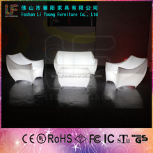 bar furniture bar tables outdoor party club wedding used flash color milk white square LDPE plastic illuminated led sofa