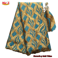 Mr.Z Guangzhou Stones And Beads Lace Afrcan Fabric N10108