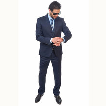 Guangzhou OEM service wool business breathable blank slim black men top brand coat pant men suit