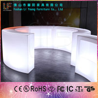 Hotsale Modern Colorful Plastic Led Table nail bar night club furniture
