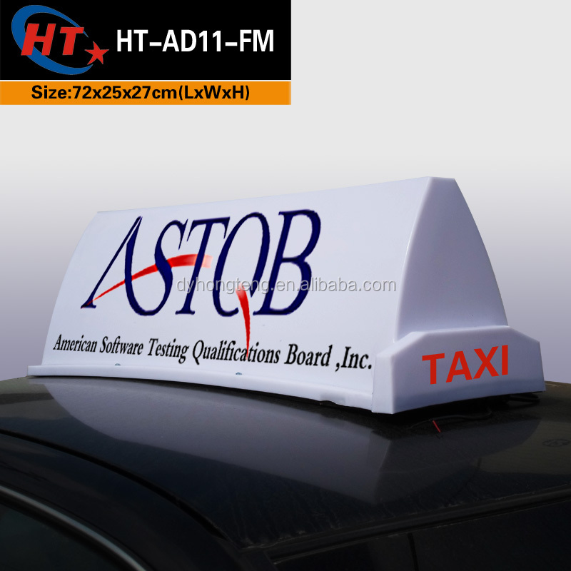 Bright sign light box led car taxi top advertising