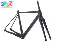 2017 Made in China no brand Carbon frame 700*40C thru axle Carbon Road/Cyclocross Bike Frame