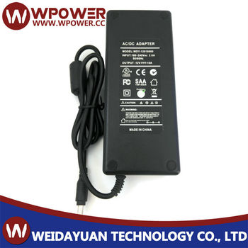 12v 10a power transformer adapter for LED LCD TV RGB with CE FCC C-tick SAA RoHS UL etc certificates
