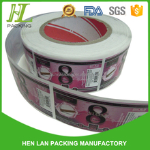 PVC shrink wrap bottle lables/printed plastic label in roll or piece for bottle