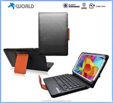 2014 bluetooth keyboard leather case for Samsung Galaxy Tab 4 10.1