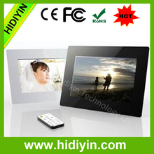 bulk wholesale 10.1 inch LCD screen digital picture frame remote control USB Drive digital photo frame