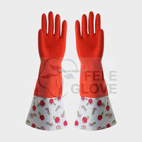 latex long cuff gloves/hand gloves/protective gloves