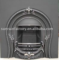 Cast iron wood burning indoor fireplace/stove