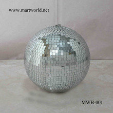 2017 Factory price 12 inch disco mirror ball ; rotating shining silver disco for wedding decoration party decoration(MWB-001)