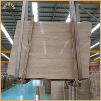 Turkish High Quality Beige Silver Golden Coffee Travertine Marble Slabs and Tile