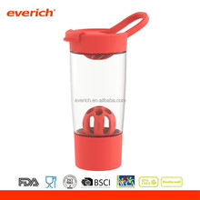 wholesale 24oz plastic protein shaker bottle with plastic mixer ball and container