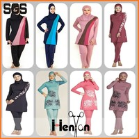 wholesale custom muslim waterproof swimwear