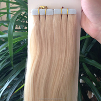 2017 Super bet quality Virgin Remy No Shedding Strong & Sticky blue Super Tape hair extensions