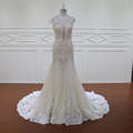 LY-041 Deep V lace fishtail wedding dress patterns