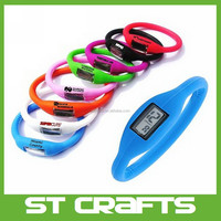 High quality cheapest hot sale jelly wrist waterproof ion silicone sport watch