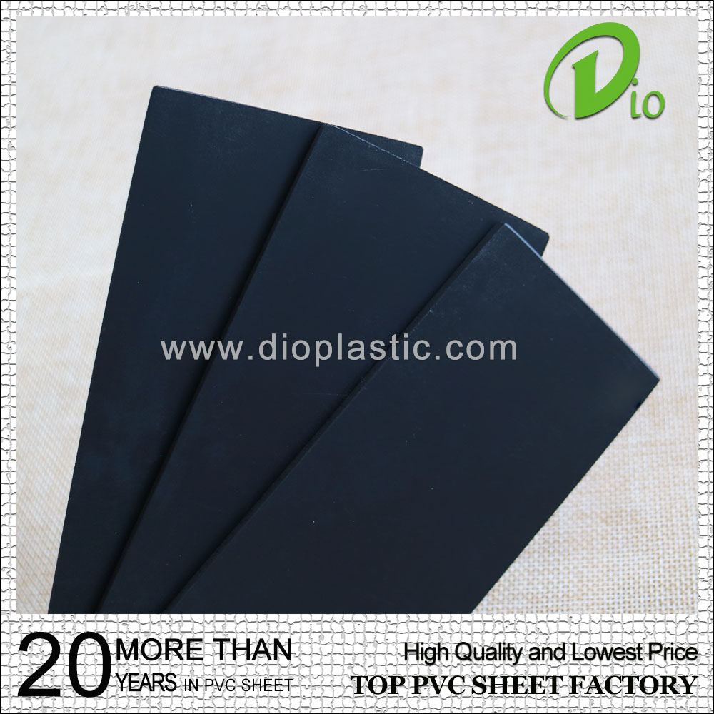 factory direct best price 4mm pvc sheet black for printing board