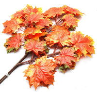 Hot sell maple leaf leaves / different kinds of fake tree leaevs factory directly sell