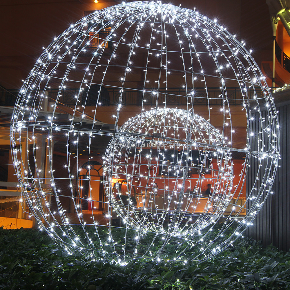 100 christmas light balls for trees can your christmas for Outdoor christmas balls that light up
