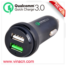 Car dc 12v qualcomm usb 5v 3a quick charge 3.0 fast car battery charger in total 5v 6a