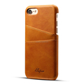 Genuine leather cover back case for iPhone 7 7 Plus with card slots