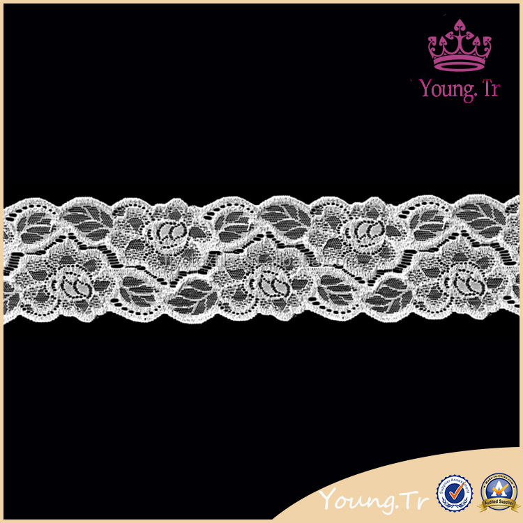 8.5cm lingerie waistband organza lace scalloped lace trim