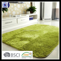 Microfiber polyester latex backing machine washable carpet rug
