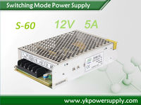 60W with CE ROHS approved dc regulated power supply with battery charger/12V 5a AC/DC SMPS