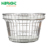 small metal stainless steel cosmetics store market used hand held stacking shopping basket for sale