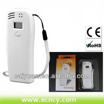 Mobile safety equipment alcohol breath tester with LCD screen