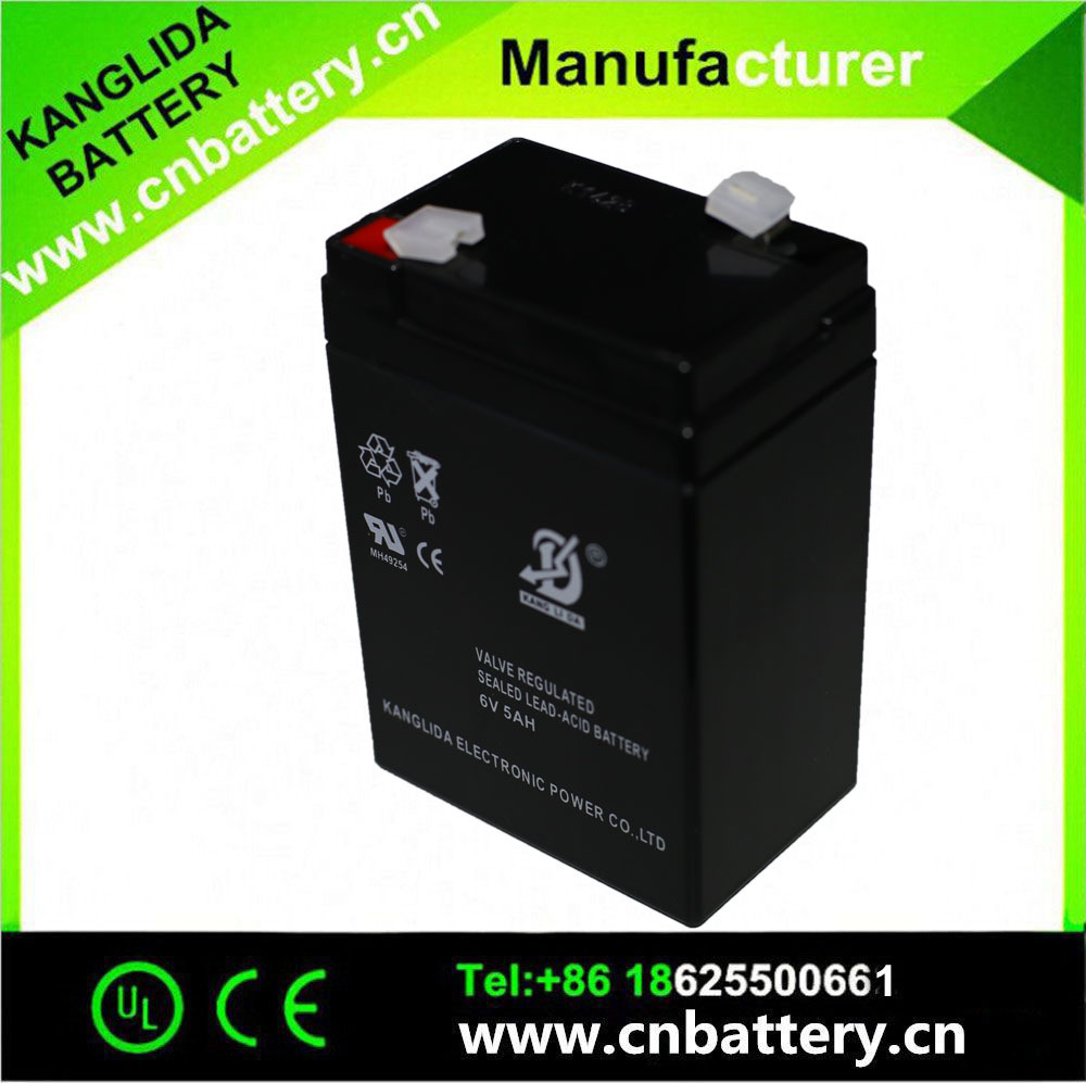 6v 5ah Rechargeable sealed lead acid storage battery