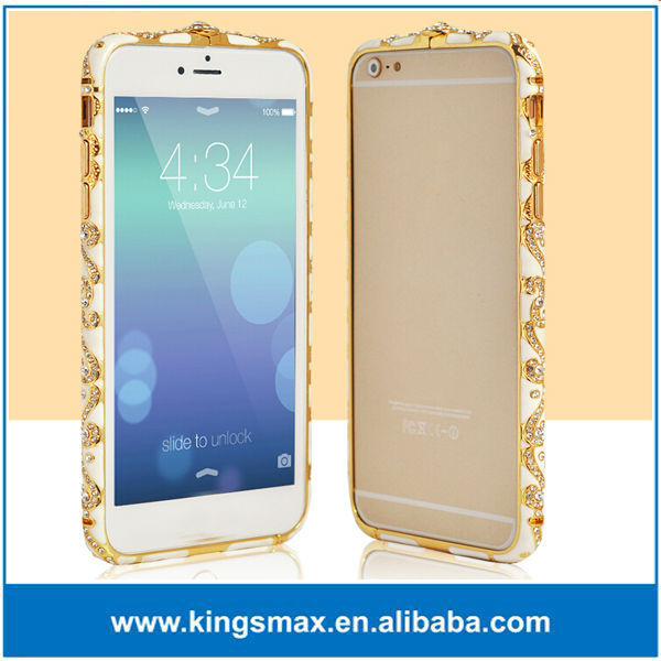 New High Quality colorful luxury bling diamond Bumper Case For iphone 6