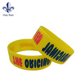 210*25*2mm Customized Silkscreen Printed Debossed ink Silicone Bracelet