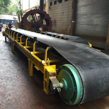Rubber conveyor belt Price or nylon conveyor belt connect with feeder and jaw crusher