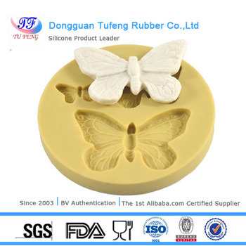 Cake decorating tools 3-cavity butterfly silicon fondant mold