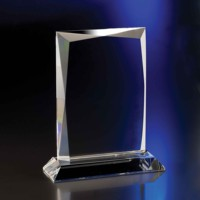 Factory price glass trophy plaque ,blank crystal glass trophy for laser engraving