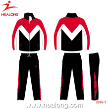 Healong Wholesale Sportwear 100% Polyester Customized Men Winter Tracksuit