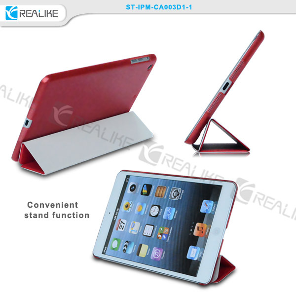 High quality three folded stand function smart case TPU smart case cover for ipad