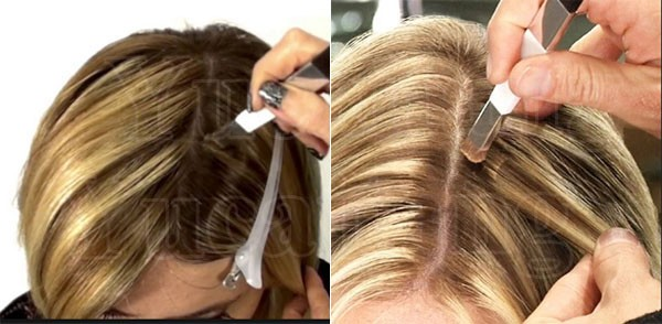 Easy Removable 4 Colors Hair Highlights Gray Hair Instant Hair Color ...