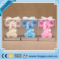 Customized hand-made painted decorative elephant candle