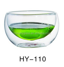 HY-110 glass mug without stem / double wall various capacity glass coffee cup / pyrex glass coffee mugs