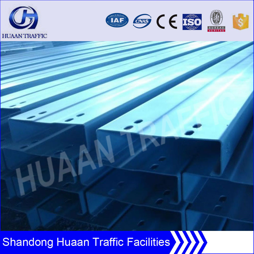 Corrugated guardrail beam used steel pipe