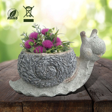 New garden and Balcony Animal snail shape flower Pots for sale