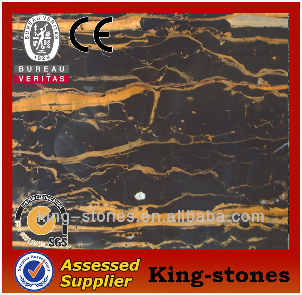 new cheap black and gold marble slabs