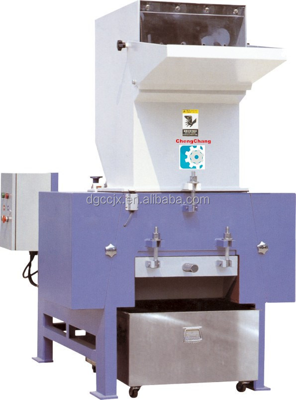 plastic single/one shaft shredder machine for big block polyethylene with capacity about 400-500 kg/h