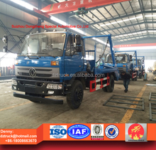4x2 dongfeng 8tons skip loader garbage truck for sale