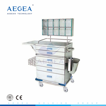 AG-AT015 With storage box hospital metal frame medical anesthesia carts