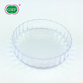 Party disposable plastic salad dessert food round plate for kids
