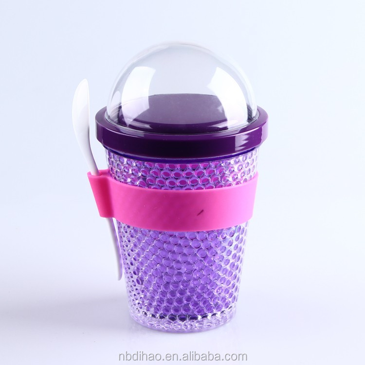 2go Frozen Plastic Yogurt container